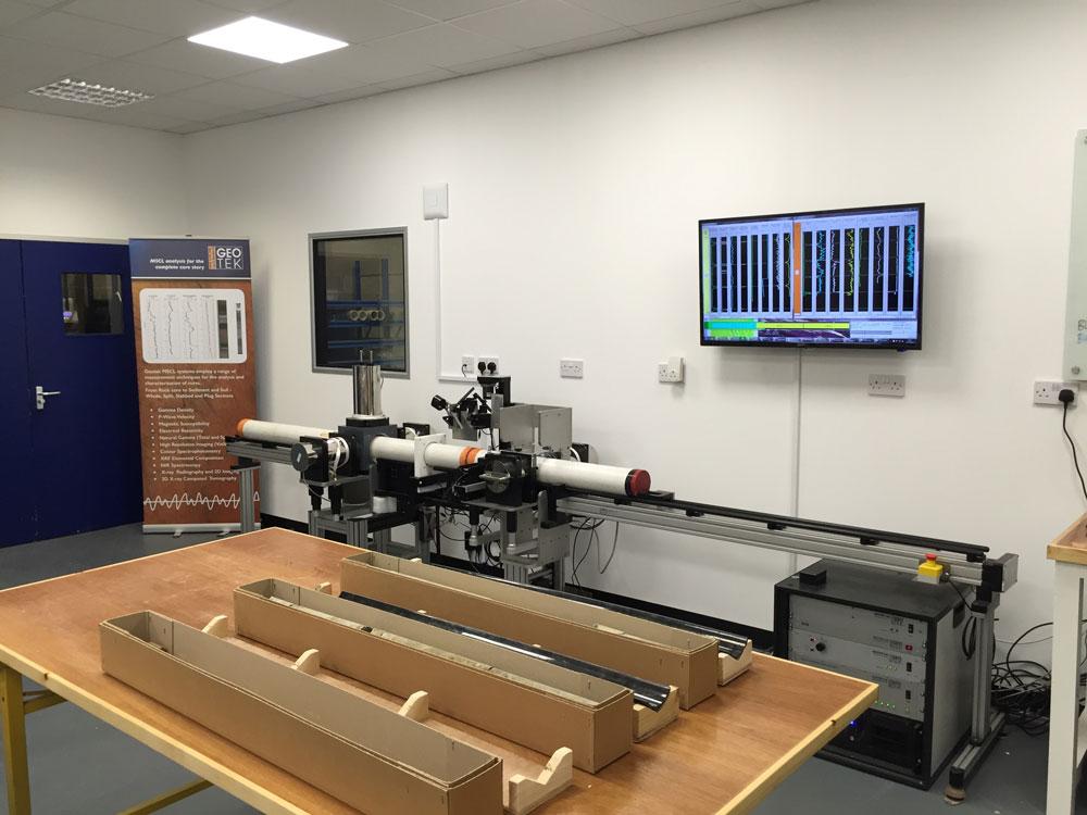 Geotek Core Logging Lab