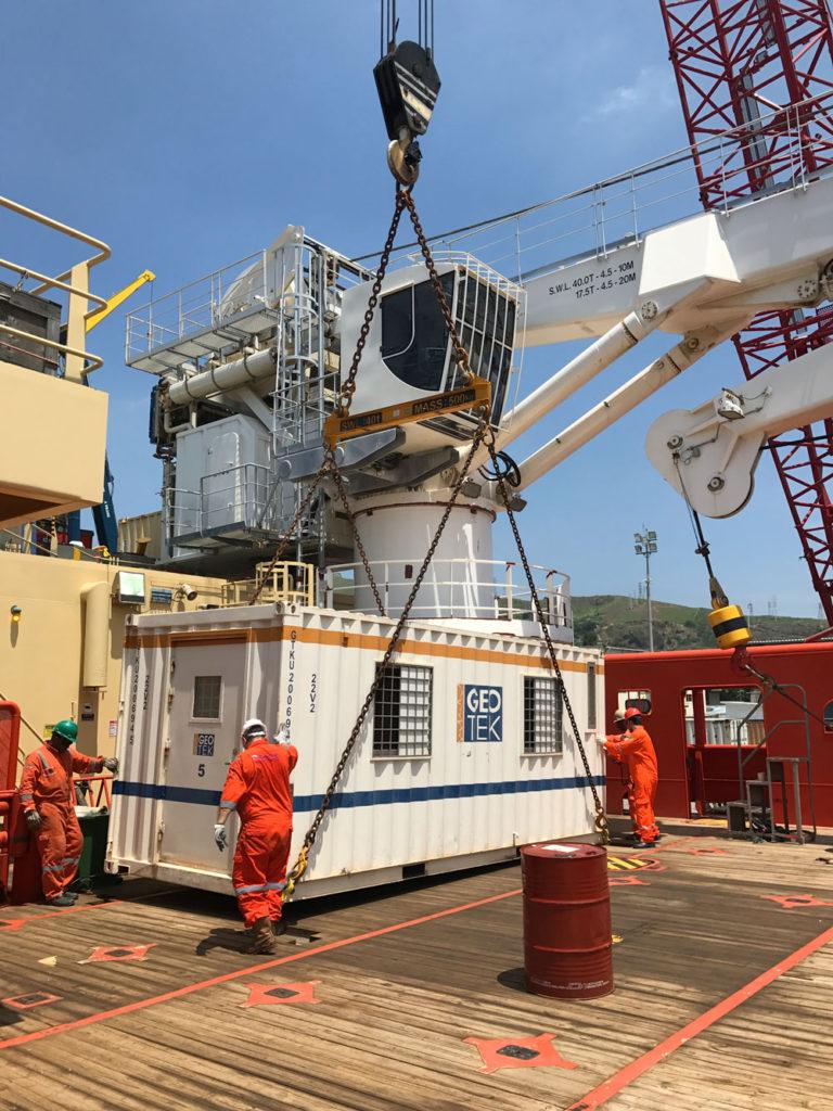 Geotek Container on vessel